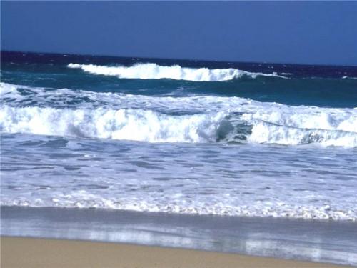 с берега океана